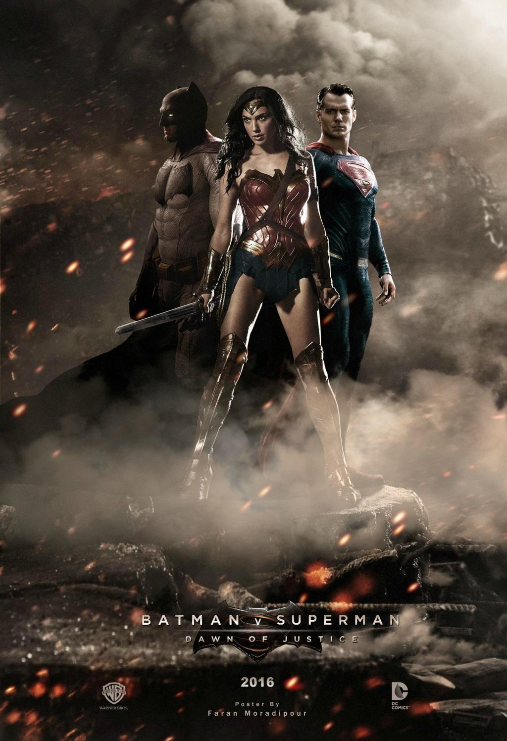 Fan made posters for Batman v Superman featuring Gal Gadot ...